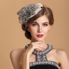 Cheap hat charm, Buy Quality hat quality directly from China hat material Suppliers: Sinamay Ladies Church Feather Pillbox Hat Wedding Bridal Fascinator black ivory navy