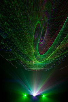 Lasershow - cool green laser effects