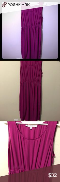 Fuchsia spring dress L/ XL Awesome dress with the perfect spring pop of color. Throw on a denim jacket while it's still warming up. Pair it with a jeweled sandal for the summer date outfit, Or toss on a cardigan and wear to work. Versatile piece, easy to love. It's tagged an XL but is best suited for a size 12-14 Collective Concepts Dresses