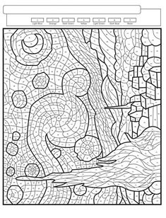 Adult Color By Number, Color By Number Printable, Color By Numbers, Paint By Number, Abstract Coloring Pages, Colouring Pages, Coloring Books, Printable Adult Coloring Pages, Art Classroom