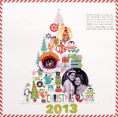 Bella Blvd Holly Jolly Christmas Collection | Christmas 2013 layout by November Guest Designer Eva Pizarro