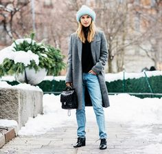 The 12 Bloggers With the Best Cold-Weather Style via @WhoWhatWear