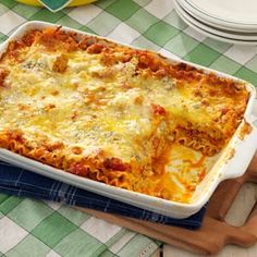 Buffalo Chicken Lasagna Recipe from Taste of Home -- shared by Melissa Millwood of Lyman, South Carolina