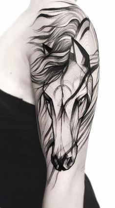 Different tattoos also include various unique meanings for the symbol included. Here listed are some tattoos with meaning. Unicorn Tattoos, Tattoos Skull, Animal Tattoos, Black Tattoos, Horse Tattoos, Tattoos For Women Half Sleeve, Full Sleeve Tattoos, Tattoos For Guys, Tattoo Sleeve Girl