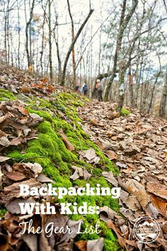 with Kids: The Gear List Gear List For Backpacking with Kids from CurrentlyWanderingGear List For Backpacking with Kids from CurrentlyWandering Camping Bedarf, Camping Checklist, Family Camping, Camping Hacks, Outdoor Camping, Camping Packing, Packing Lists, Camping Supplies, Camping Essentials