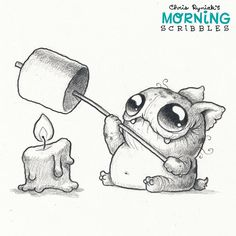 Happy National Toasted Marshmallow Day!  Apparently that's a real thing now.  #morningscribbles #nationaltoastedmarshmallowday