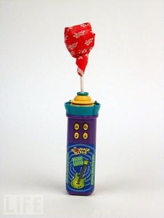 Twirl Pop....spins in your mouth  had one of these also had one that played the radio in your head or so it said!