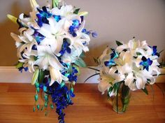 <3 the blue orchid cascade for my bouquet