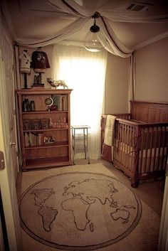 Baby Boy Nursery Themes Safari Cribs 54 New Ideas Baby Room Themes, Baby Boy Rooms, Baby Boy Nurseries, Nursery Room, Girl Nursery, Kids Bedroom, Vintage Baby Boy Nursery, Small Baby Nursery, Vintage Baby Rooms
