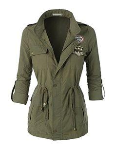 Women's Zip Up Military Anorak Jacket