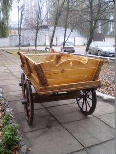 WoodCraft - Изготовление мебели ручной работы в Павлограде - Деревянная четырех колесная повозка своими руками (Второе изображение)