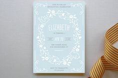 Storybook Wreath Children's Birthday Party Invitations by Amber Barkley at minted.com