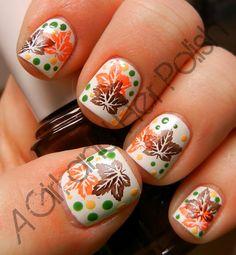 Fall nails. Love it. (: