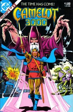 """It's knight time! King Arthur is resurrected in future England in this 80s DC miniseries. His round table is not as square: They are reincarnated as a Mulligan stew (golf postdates Arthur, but he eventually learns the meaning of taking a mulligan). High on """"Highlander"""": Writer Mike W. Barr. This or """"The Killing Joke"""" teaches Yanks the meaning of """"zarjaz"""": Artist Brian Bolland."""