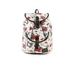 c17593bb401c Hello Kitty Backpack  Tattoo Print Collection Hello Kitty Backpacks