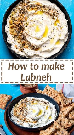 This recipe for homemade labneh (yogurt cheese) will give you a creamy, smooth, and delicious healthy cheese. Serve it for breakfast, snack or as an appetizer. Yogurt Recipes, Cheese Recipes, Appetizer Recipes, Cooking Recipes, Lebanese Recipes, Turkish Recipes, Mediterranean Dishes, Arabic Food, Queso