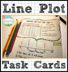 Line Plot Task Cards. Use line plot task cards in a variety of ways to encourage students to deeply understand and analyze line plots. Includes line plots with whole numbers, line plots with fractions, and analyzing line plot data!