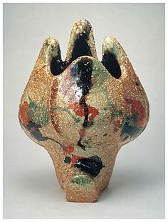 Three colored vase - kawai, kanjiro