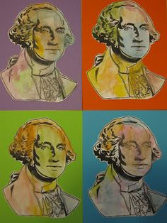 Toddler Approved!: President's Day Andy Warhol Style