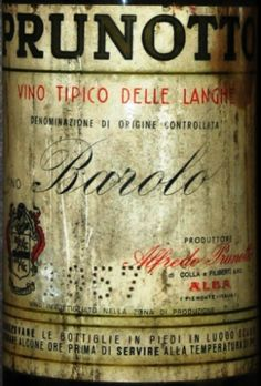 Barolo 1957 Cru S. Cassiano  Prunotto