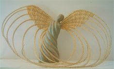 Cornish Angel Clay Angel, Fire Clay, Wings, Weaving, Paper, Projects, Gold, Jewelry, Log Projects