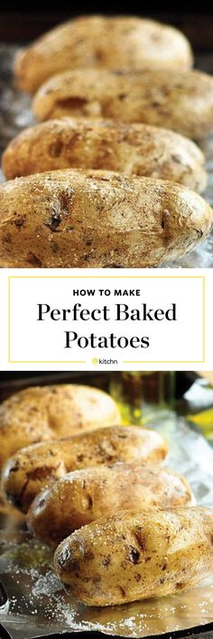 How To Bake a Potato in the Oven — Cooking Lessons from The Kitchn Baked Red Potatoes, Potatoes In Oven, Baked Potato Oven, Potato Bar, Potato Dishes, Oven Baked, Potato Recipes, Veggie Dishes, Veggie Recipes