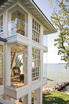 Eckfenster - - are in the right place about Office Architecture garden Here we offer you the most beautiful pictures about the big Office Architecture you are looking for. When you examine the Eckfenster - - par Future House, My House, Ideal House, Southern Homes, Southern Living, Coastal Living, Country Homes, Coastal Cottage, Southern Charm