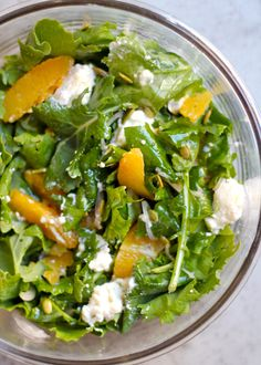 Kale and Citrus Salad - After long days of making pastries and rich foods in the SAVEUR test kitchen, our team craves lunches that are bright, flavorful, and not too heavy. This winter salad combines some of the best cold-weather flavors—kale, orange, and pumpkin seeds—with sweet honey and airy ricotta.