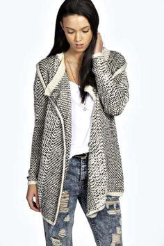 Sophia Reverse Knit Coatigan at boohoo.com