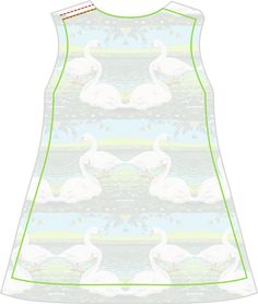 Materialien: * Baumwolljersey De Melkbrigade - Summer Swans Jersey (Breite: 155cm) ( Kleid )  50cm ( Größe 56 - 86 )  100c...