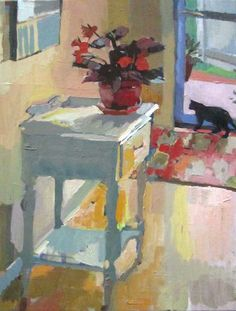 Carole Rabe - Red Begonia in Front Hall