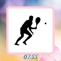 Tennis Player Silhouette Reusable Craft by StencilHeavenForYou