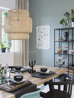 Cheap Home Decorations For Sale #BestHomeDecoratingApps Info: 4866684984 Skogsta Ikea, Sinnerlig Ikea, Dining Room Storage, Dining Room Design, Design Your Home, House Design, Magazine Deco, Industrial Dining, Decoration Table