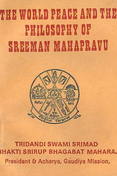 Buy online the religious book on the world peace & philosophy of sreemon mahaprabhu at gaudiya mission store