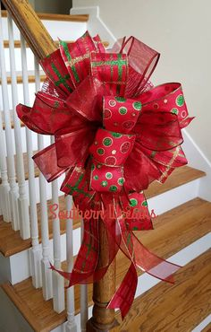 Polka Dot Tree Topper Christmas Tree Toppers Holiday Bow