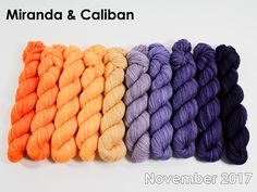 The highest quality hand-dyed, just for you. Gradient Color, Merino Wool Blanket, Yarns, November, Strands, November Born, Knitting