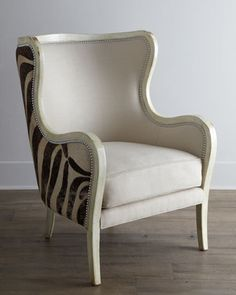 """""""Cartata"""" Wing Chair by Massoud at Horchow."""