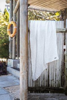 Drap de plage en étamine de lin / Muslin linen beach towel