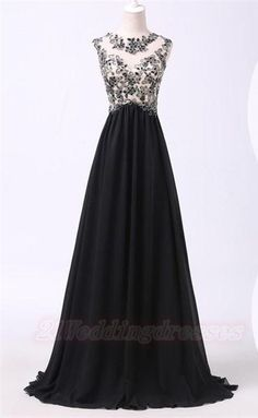 2016 Black Lace Long Chiffon Prom Dresses For Teens,Sparkly Modest Evening Dresses http://21weddingdresses.storenvy.com/products/16889301-2016-black-lace-long-chiffon-prom-dresses-for-teens-sparkly-modest-evening-d