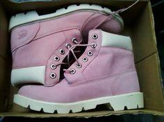 Pink Timberlands!