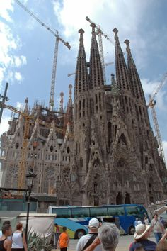 Temple de la Sagrada Familia in Barcelona, Spain