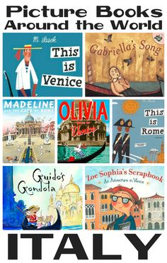 Roundup of beautiful books all about Italy! Great for reading to kids when do an international unit!