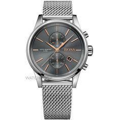 Hugo Boss Men's Chronograph Jet Stainless Steel Mesh Bracelet Watch In Gray Hugo Boss Homme, Hugo Boss Man, Hugo Men, Stainless Steel Mesh, Stainless Steel Bracelet, Mesh Bracelet, Bracelet Watch, Cool Watches, Watches For Men