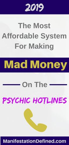 This is the most powerful and affordable system I've ever tried for making the most money on the psychic hotlines (even part-time! Psychic Hotline, Mad Money, Psychic Development, Law Of Attraction Tips, Tarot Readers, Tarot Spreads, Spiritual Practices, How To Manifest, Psychic Abilities