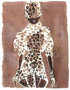 Illustrator Eduard Erlikh has enjoyed much recognition for his signature fashion figures.