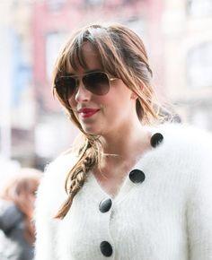 Dakota arriving at her hotel in NYC. Fifty Shades screening - Ziegfeld Theatre NYC 2/6/2015