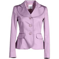 Moschino Cheapandchic Blazer ($159) ❤ liked on Polyvore featuring outerwear, jackets, blazers, mauve, moschino cheap & chic, pink blazer, pocket jacket, collar jacket and multi pocket jacket