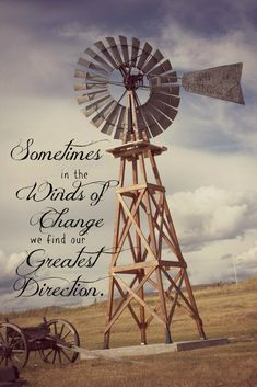 Inspirational Western Photo Art Card-Winds of Change, Windmill – Cowgirl Relics Wind Of Change, Windmill Quotes, Farm Windmill, Windmill Art, Windmill Tattoo, Happpy Birthday, Western Photo, Pompe A Essence, Old Windmills