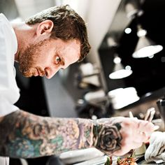 Michael Voltaggio, Los Angeles << He can cook and he's got tattoos!!!! Someone hold me back! >>