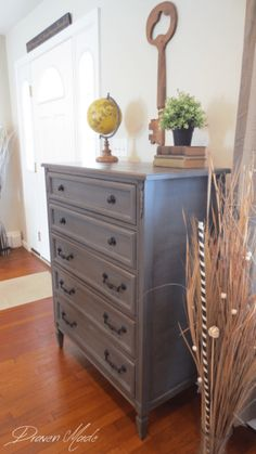 bronze gray dresser general finishes milk paint glaze